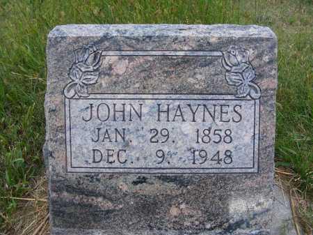 HAYNES, JOHN - Frontier County, Nebraska | JOHN HAYNES - Nebraska Gravestone Photos