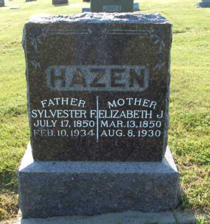 HAZEN, ELIZABETH J. - Frontier County, Nebraska | ELIZABETH J. HAZEN - Nebraska Gravestone Photos