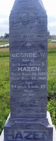 HAZEN, GEORGE W. - Frontier County, Nebraska   GEORGE W. HAZEN - Nebraska Gravestone Photos