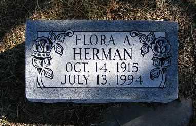 HERMAN, FLORA A. - Frontier County, Nebraska | FLORA A. HERMAN - Nebraska Gravestone Photos