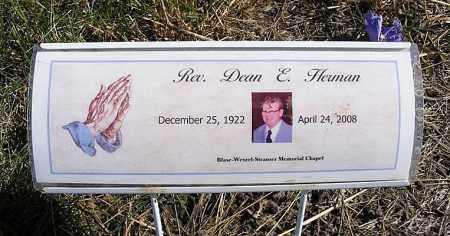 HERMAN, REV. DEAN E. - Frontier County, Nebraska | REV. DEAN E. HERMAN - Nebraska Gravestone Photos
