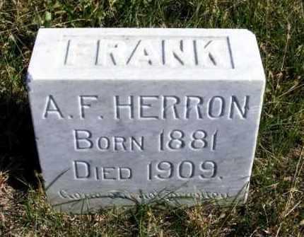 HERRON, A. F. - Frontier County, Nebraska | A. F. HERRON - Nebraska Gravestone Photos