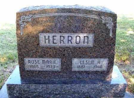 HERRON, LESLIE H. - Frontier County, Nebraska   LESLIE H. HERRON - Nebraska Gravestone Photos