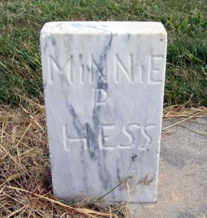 HESS, MINNIE P. - Frontier County, Nebraska | MINNIE P. HESS - Nebraska Gravestone Photos
