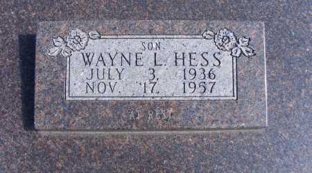 HESS, WAYNE L. - Frontier County, Nebraska | WAYNE L. HESS - Nebraska Gravestone Photos