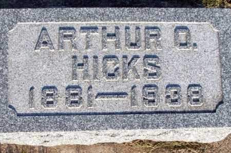 HICKS, ARTHUR O. - Frontier County, Nebraska | ARTHUR O. HICKS - Nebraska Gravestone Photos
