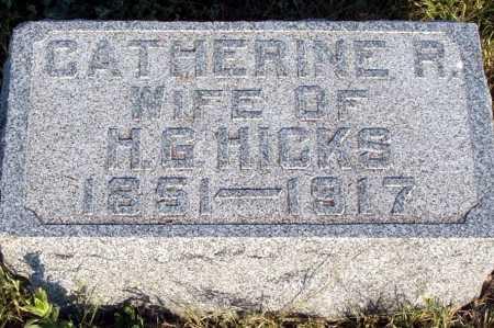 HICKS, CATHERINE R. - Frontier County, Nebraska | CATHERINE R. HICKS - Nebraska Gravestone Photos