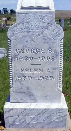 HICKS, GEORGE S. - Frontier County, Nebraska   GEORGE S. HICKS - Nebraska Gravestone Photos