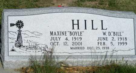 BOYLE HILL, MAXINE - Frontier County, Nebraska | MAXINE BOYLE HILL - Nebraska Gravestone Photos