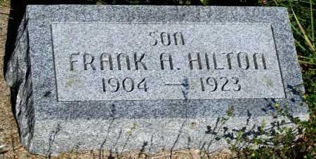 HILTON, FRANK A. - Frontier County, Nebraska   FRANK A. HILTON - Nebraska Gravestone Photos