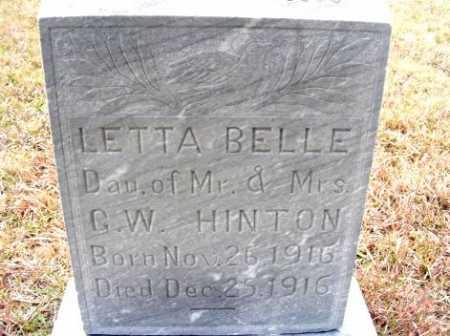 HINTON, LETTA BELLE - Frontier County, Nebraska | LETTA BELLE HINTON - Nebraska Gravestone Photos