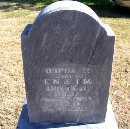 HINTON, ORPHA P. - Frontier County, Nebraska | ORPHA P. HINTON - Nebraska Gravestone Photos