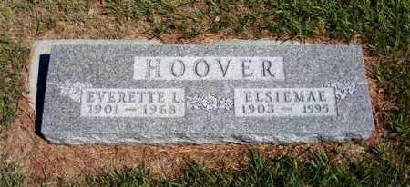 HOOVER, ELSIEMAE - Frontier County, Nebraska | ELSIEMAE HOOVER - Nebraska Gravestone Photos
