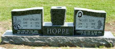 HOPPE, JOHN EDWARD - Frontier County, Nebraska | JOHN EDWARD HOPPE - Nebraska Gravestone Photos