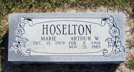 HOSELTON, ARTHUR W. - Frontier County, Nebraska | ARTHUR W. HOSELTON - Nebraska Gravestone Photos