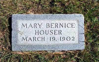 HOUSER, MARY BERNICE - Frontier County, Nebraska | MARY BERNICE HOUSER - Nebraska Gravestone Photos