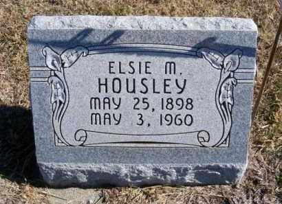 HOUSLEY, ELSIE M. - Frontier County, Nebraska | ELSIE M. HOUSLEY - Nebraska Gravestone Photos