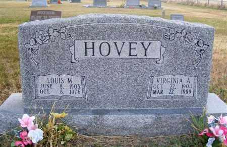 HOVEY, LOUIS M. - Frontier County, Nebraska   LOUIS M. HOVEY - Nebraska Gravestone Photos