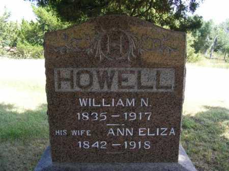 HOWELL, ANN ELIZA - Frontier County, Nebraska   ANN ELIZA HOWELL - Nebraska Gravestone Photos