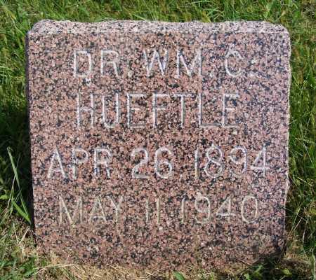 HUEFTLE, DR. WILLIAM C. - Frontier County, Nebraska   DR. WILLIAM C. HUEFTLE - Nebraska Gravestone Photos