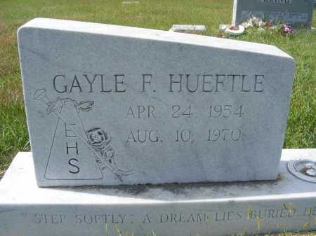 HUEFTLE, GAYLE F. - Frontier County, Nebraska | GAYLE F. HUEFTLE - Nebraska Gravestone Photos