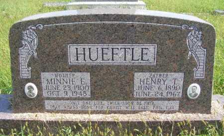 HUEFTLE, MINNIE E. - Frontier County, Nebraska   MINNIE E. HUEFTLE - Nebraska Gravestone Photos