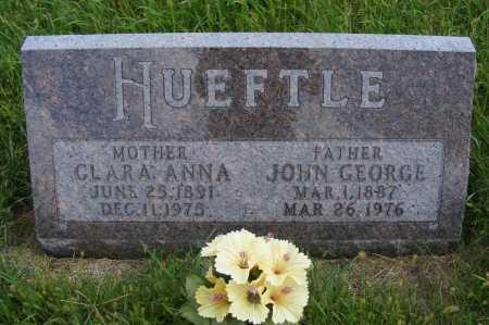 HUEFTLE, JOHN GEORGE - Frontier County, Nebraska | JOHN GEORGE HUEFTLE - Nebraska Gravestone Photos