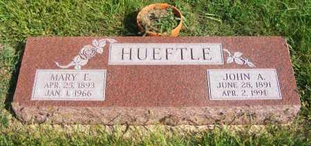 HUEFTLE, MARY E. - Frontier County, Nebraska | MARY E. HUEFTLE - Nebraska Gravestone Photos