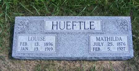 HUEFTLE, MATHILDA - Frontier County, Nebraska | MATHILDA HUEFTLE - Nebraska Gravestone Photos