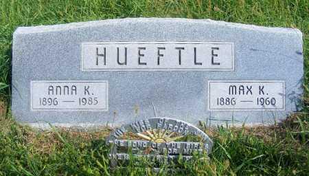 HUEFTLE, ANNA K. - Frontier County, Nebraska   ANNA K. HUEFTLE - Nebraska Gravestone Photos