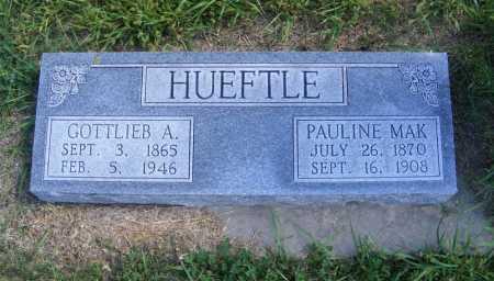 HUEFTLE, GOTTLIEB A. - Frontier County, Nebraska | GOTTLIEB A. HUEFTLE - Nebraska Gravestone Photos