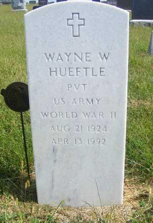 HUEFTLE, WAYNE W. - Frontier County, Nebraska | WAYNE W. HUEFTLE - Nebraska Gravestone Photos