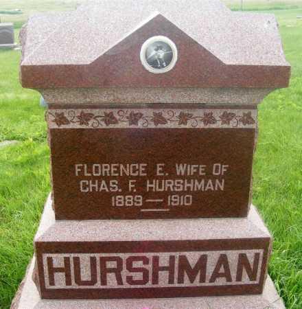 HURSHMAN, FLORENCE E. - Frontier County, Nebraska | FLORENCE E. HURSHMAN - Nebraska Gravestone Photos
