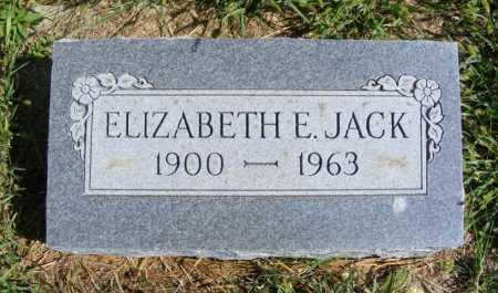 JACK, ELIZABETH E. - Frontier County, Nebraska   ELIZABETH E. JACK - Nebraska Gravestone Photos