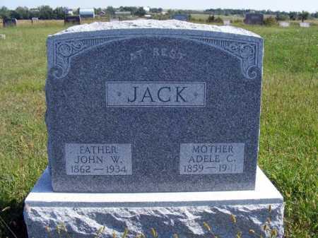 JACK, JOHN W. - Frontier County, Nebraska   JOHN W. JACK - Nebraska Gravestone Photos