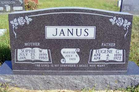 JANUS, EUGENE G. - Frontier County, Nebraska | EUGENE G. JANUS - Nebraska Gravestone Photos