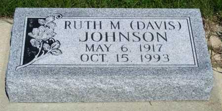 DAVIS JOHNSON, RUTH M. - Frontier County, Nebraska | RUTH M. DAVIS JOHNSON - Nebraska Gravestone Photos
