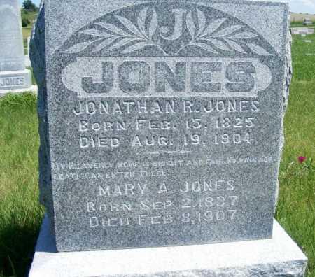 JONES, JONATHAN R. - Frontier County, Nebraska | JONATHAN R. JONES - Nebraska Gravestone Photos