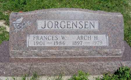 ECKSTEIN JORGENSEN, FRANCES W. - Frontier County, Nebraska | FRANCES W. ECKSTEIN JORGENSEN - Nebraska Gravestone Photos