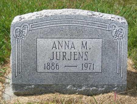 JURJENS, ANNA M. - Frontier County, Nebraska | ANNA M. JURJENS - Nebraska Gravestone Photos