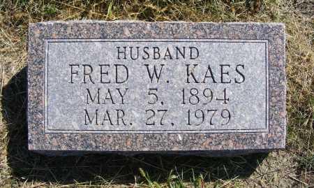 KAES, FRED W. - Frontier County, Nebraska | FRED W. KAES - Nebraska Gravestone Photos