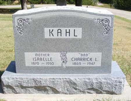 KAHL, ISABELLE - Frontier County, Nebraska   ISABELLE KAHL - Nebraska Gravestone Photos