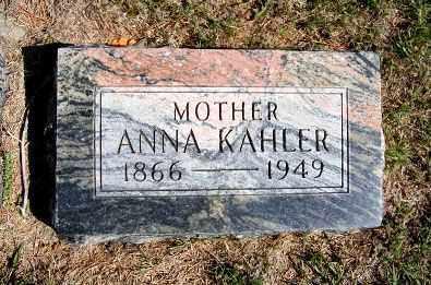 KAHLER, ANNA - Frontier County, Nebraska | ANNA KAHLER - Nebraska Gravestone Photos