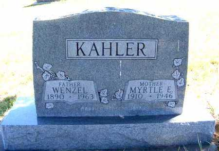 KAHLER, WENZEL - Frontier County, Nebraska | WENZEL KAHLER - Nebraska Gravestone Photos
