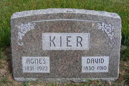 KIER, DAVID - Frontier County, Nebraska | DAVID KIER - Nebraska Gravestone Photos