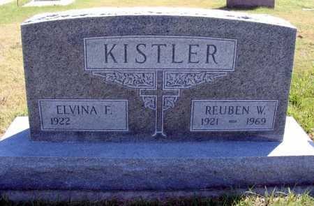 KISTLER, ELVINA F. - Frontier County, Nebraska | ELVINA F. KISTLER - Nebraska Gravestone Photos