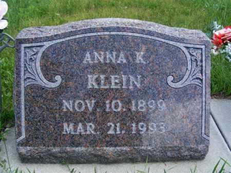KLEIN, ANNA K. - Frontier County, Nebraska | ANNA K. KLEIN - Nebraska Gravestone Photos
