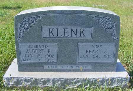 KLENK, ALBERT P. - Frontier County, Nebraska | ALBERT P. KLENK - Nebraska Gravestone Photos
