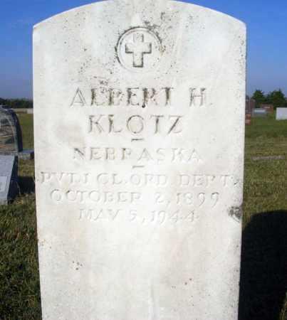 KLOTZ, ALBERT H. - Frontier County, Nebraska | ALBERT H. KLOTZ - Nebraska Gravestone Photos