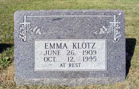 KLOTZ, EMMA - Frontier County, Nebraska | EMMA KLOTZ - Nebraska Gravestone Photos